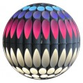 Decorative Post Top Landscape Lighting Fixture with RGB+White Multicolor Luminous Sphere