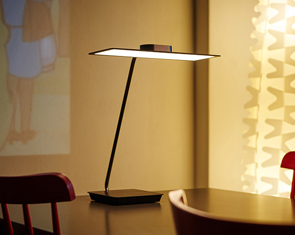 The Genuine Eye-caring Table Lamp Backed by OLED Technology