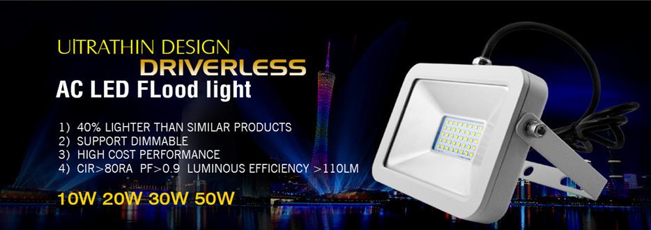 LED Flood Light with PIR Motion Sensor