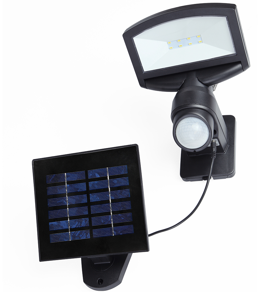 Lutec Sunshine 3 2w Solar Powered Security Floodlights
