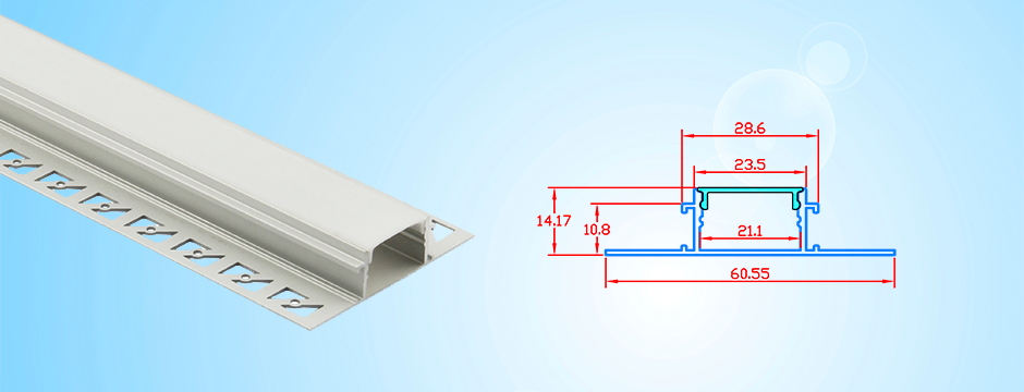 Recessed Aluminum Channel For Led Tape Lights