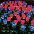 Lighted Flowers | Waterproof LED Illuminated Artificial Florals for Holiday Displays, Light Shows