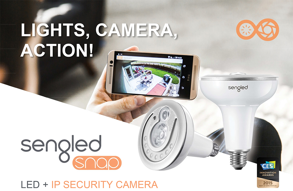 Sengled Snap WiFi Security Camera Light bulb