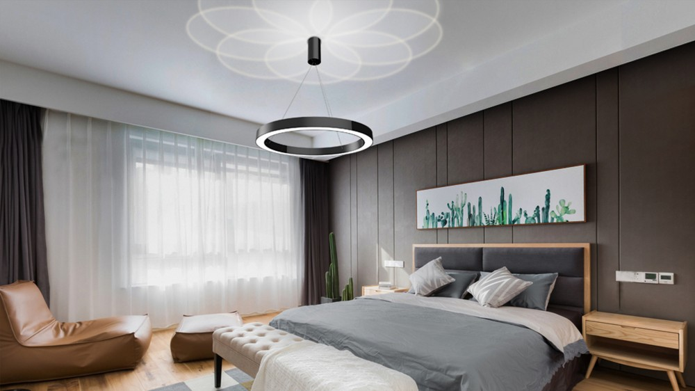 Circular Hanging Light Fixture