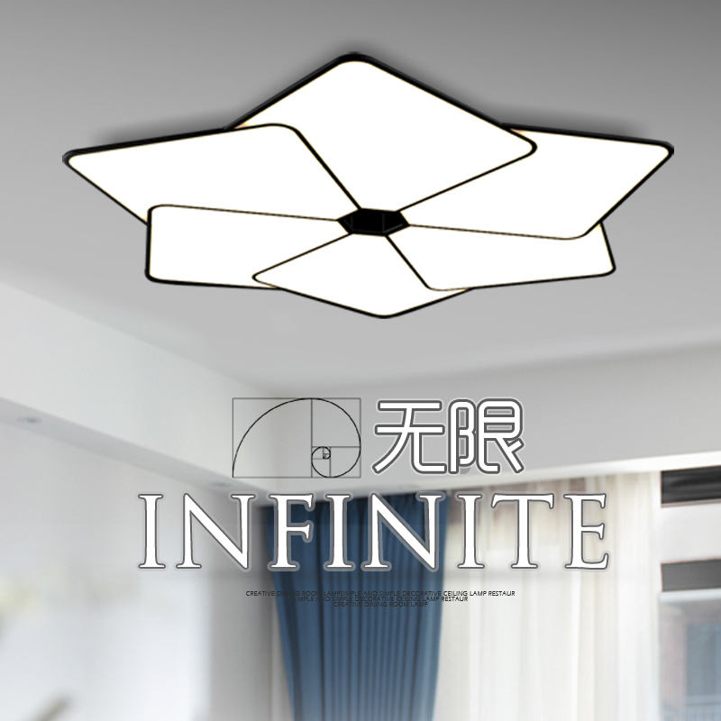 Adot Modern Ceiling Light Flush Mount Living Room Flat Panel Led Fixture