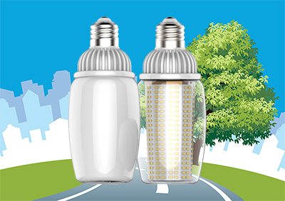 IcePipe High Lumen LED Bulbs Power Up LED Retrofit for HID Light Fixtures