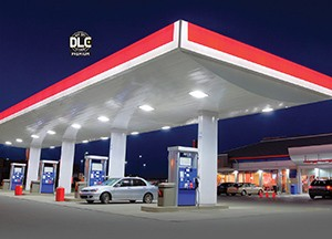 RAB LED Gas Station Canopy Lights Add Unbeatable Value to Petrol Retail Lighting