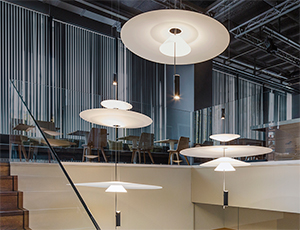 Vibia Flamingo Dimmable LED Pendant Light Shines Artful Elegance and Gentle Luminance