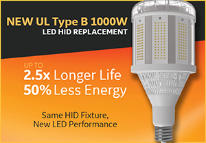 GE High Wattage LED Retrofit Corn Bulbs Revitalize Metal Halide Fixtures