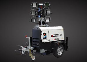 Trime Mobile Light Tower: Temporary Jobsite Lighting Made More Dependable, Cost-effective