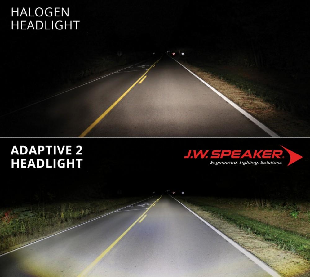 Adaptive LED Motorcycle Headlight