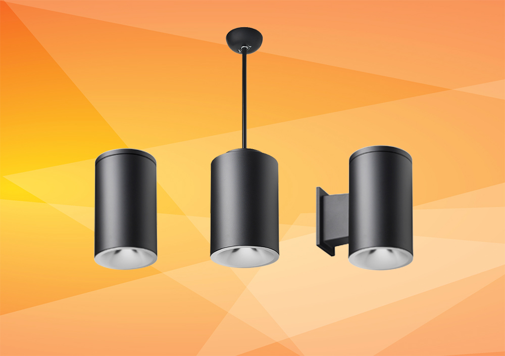 Tunable White LED Cylinder Pendant Light, Surface Mount Downlight