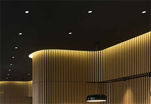 Recessed Lighting with Dimmable LED Downlights from Delta Light Creates Engaging Ambience