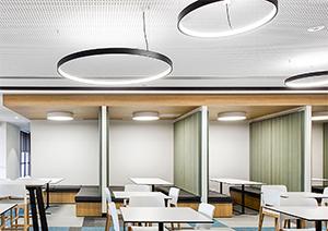 Superloop Ring Pendant Lights Exude Designer Appeal in Restaurants, Showrooms, Galleries