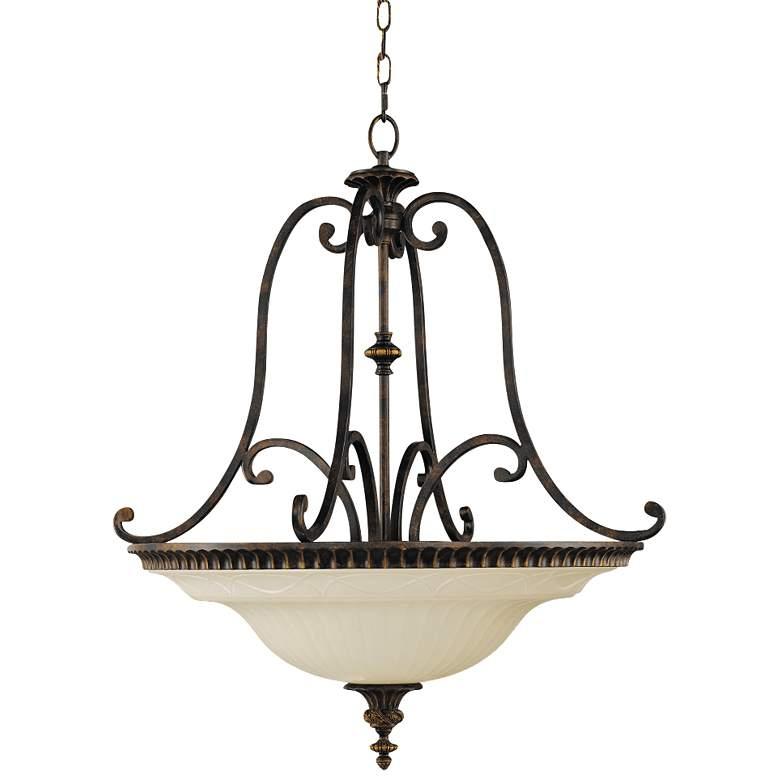 center bowl chandelier