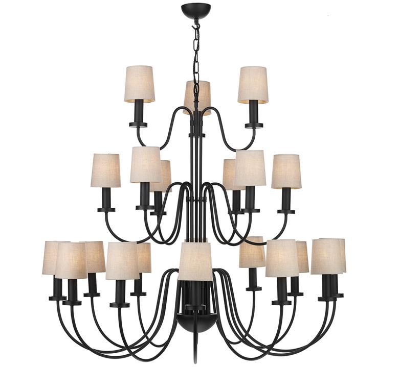 tiered chandelier