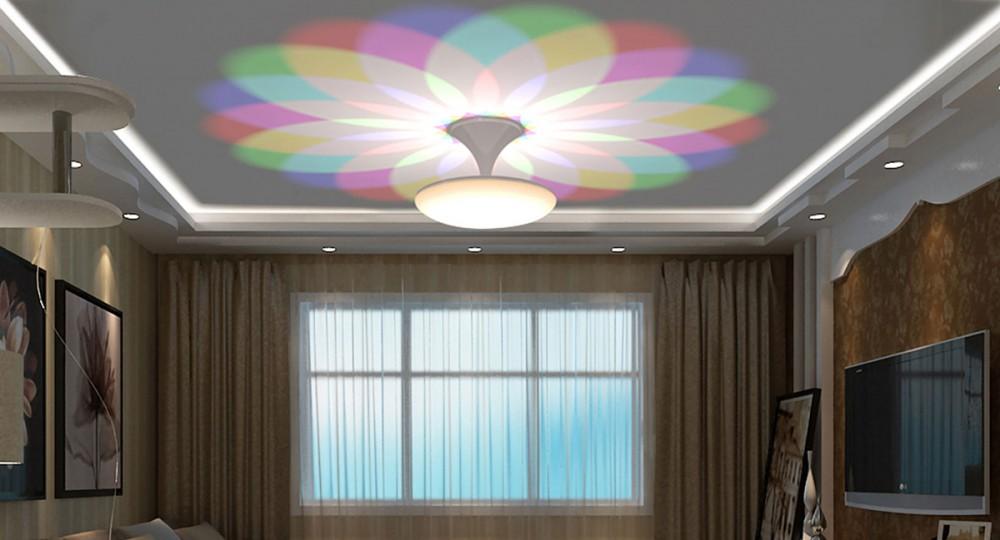 Semi-flush mount ceiling light